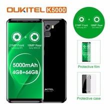 "Original Oukitel K5000 4G LTE Mobile Phone 4GB RAM 64GB ROM MT6750V Octa Core Android 7.0 5.7""HD 5000mAh 16MP Fingerprint OTG"