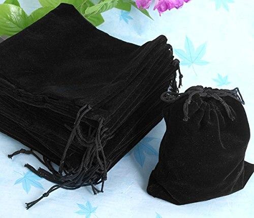 10 pièces (50X velours sac boîte à bijoux pour Joya 120x100mm noir