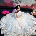 Princesa bonecas de brinquedo com roupas vestido para meninas crianças vestido de casamento para a roupa veste moda presente de aniversário bonecas toys 022006