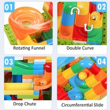 84PCS Blocks Marble Runs Bricks Balls With 1PC Base Plate 16X16Dots Toy For Children Above 3 Years Old Compatible Duploed