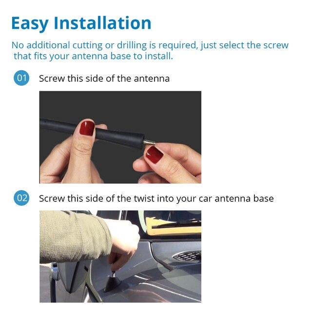 """Antena Universal para coche con 3 tornillos que cubren múltiples modelos 9 """"11"""" 16 """"Antena de Radio para coche látigo del mástil para BMW MazdaToyota Golf"""