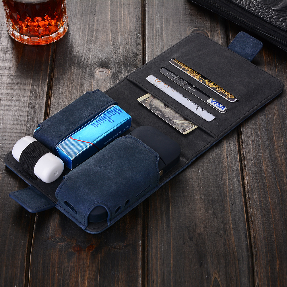 A-touch PU Leather Case Bag for IQOS Electronic Cigarette Protector Carrying Case Multi Functinoal Zippered Passport Wallet multi functional zippered leather wallet with detachable back case for iphone 6s 6 4 7 rose