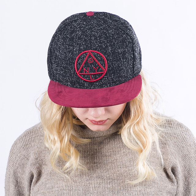 ... Quality Snapback cap NY round triangle embroidery flat brim baseball  cap youth hip hop cap and . ... 2522fc5eedf
