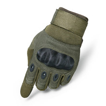 New outdoor sports mountaineering cycling tactical army fan non-slip combat black shell touch screen gloves
