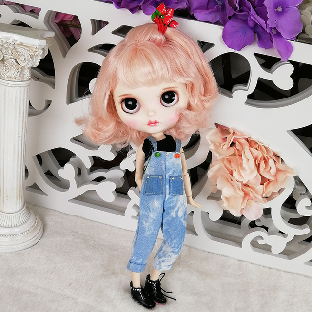 Kendra – Premium Custom Blythe Doll with Full Outfit Pouty Face