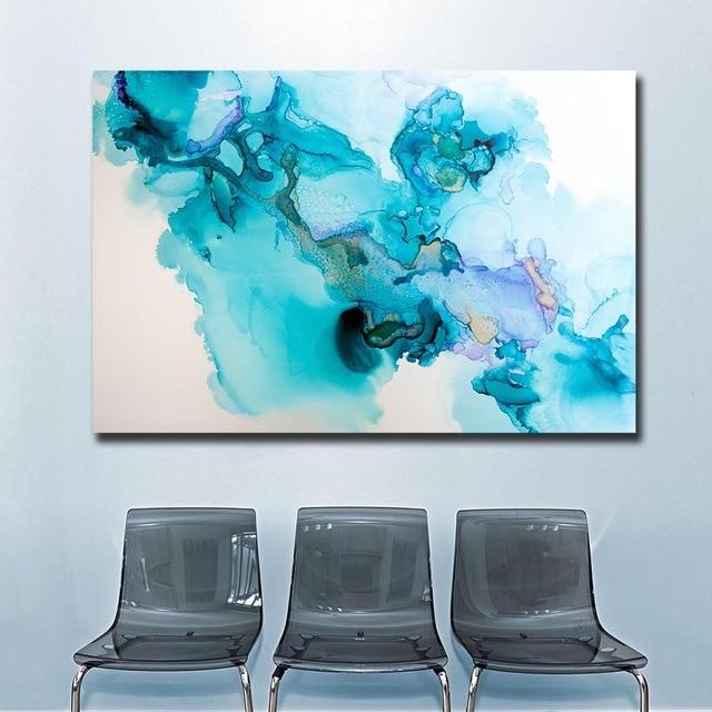 Mode Abstraktes aquarell textur Leinwand Wandbilder für Wohnzimmer Büro  Schlafzimmer Moderne Ölgemälde Ungerahmt