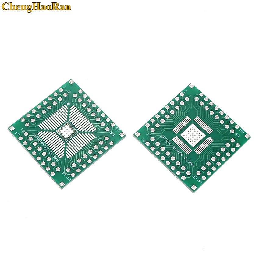 ChengHaoRan 5 шт. QFP 32 40 48 56 64 SMT к DIP64 плата адаптера пластины шаг 0,5/0,8 мм универсальная плата PCB конвертер