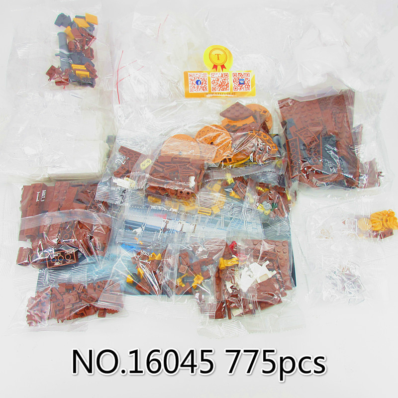 16045 775pcs Creative Series The Ship in the Bottle Set Building Blocks Bricks Toys Christmas Gift lepin