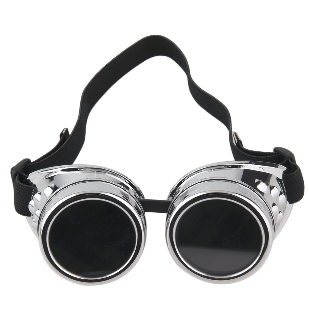 Soldagem de Cyber Goggles Steampunk Óculos Retro Vintage óculos de Sol Do  Punk Gótico Cosplay Elegante Cibernéticos Steampunk Óculos Óculos De  Proteção em ... ac959bafd0