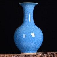 Jingdezhen ceramics high end antique kiln crackle glaze vase borneol pomegranate Home Furnishing living room decoration