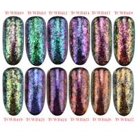 TCT 247 Unicorn Chameleon Flakes Magic Flakes Multi Chrome Nail Powder Rainbow Flakes Nails Glitter Aurola Glitter Henna Makeup