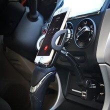 Универсальный Автомобильный держатель Телефона прикуривателя 2 usb зарядное устройство для Samsung Galaxy S2 S3 S4 Motorala Lenovo LG ZTE TCL Xiaomi