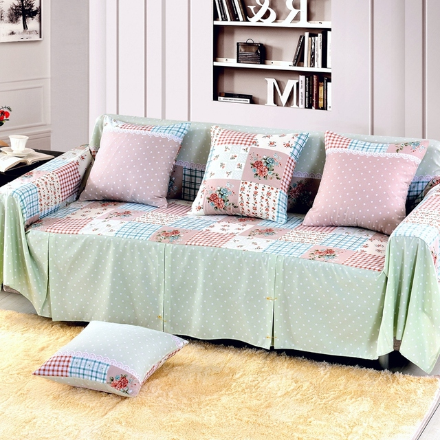 SunnyRain Floral Printed Sofa Cover Sectional Sofa Covers L Shaped Sofa  Slipcover Couch Cover Machine Washable