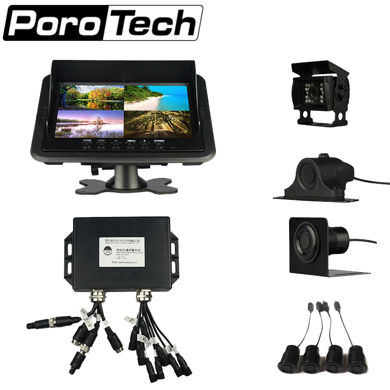 W-269 Reverse Radar Backup Camera System with 4 Parking Sesnors Ultrasonic detection Image Display For Truck plagiarism detection system for afghanistan s national languages