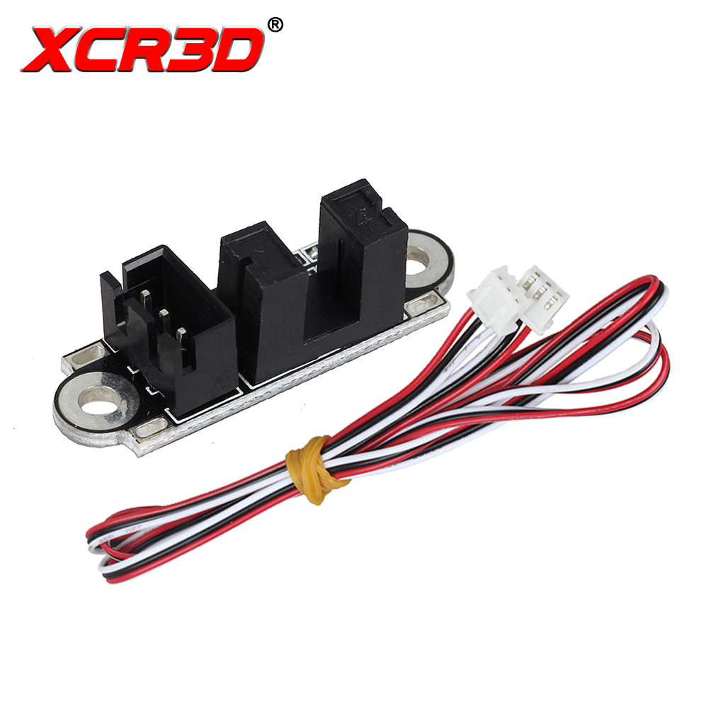 XCR3D 3D Printer Parts Optical Endstop For Board Limit Switch Module With 1M Cable Photoelectric Light Control Endstop Sensor new opto optical endstop end stop switch cnc optical endstop using tcst2103 photo interrupter