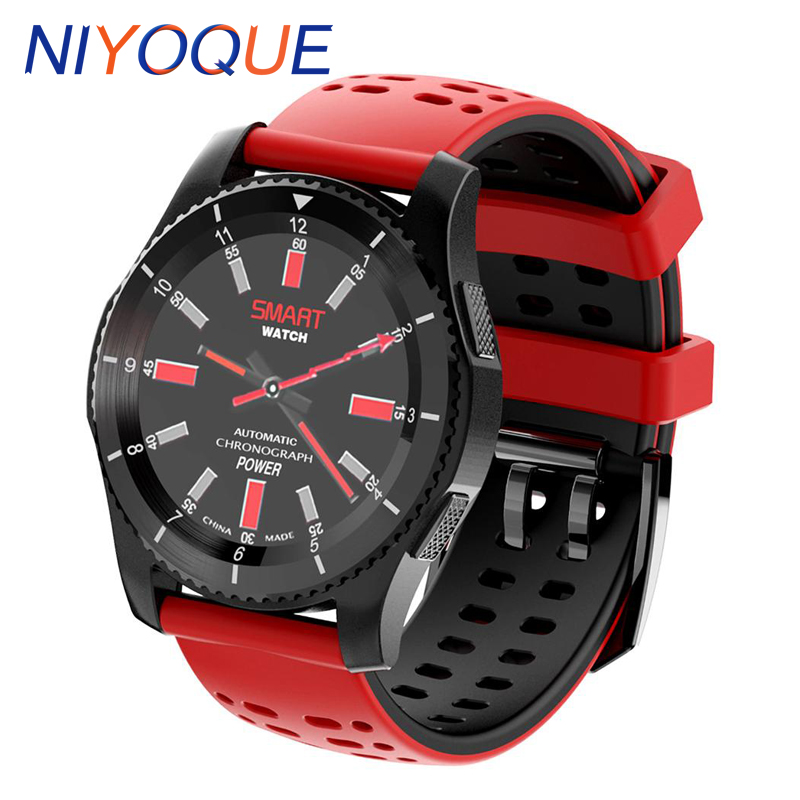 NIYOQUE GS8 Smart Phone Watch Support 2G GSM MTK2502 Gorilla Glass Screen Heart Rate Monitor Bluetooth 4.0 For Andoird and IOS kiccy s2 gsm smart watch phone w 1 54 capacitive screen quad band and bluetooth black