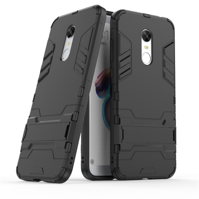 For Xiaomi Redmi 5 plus Shockproof Hybrid Armor Stand Rubber Back Cover For Redmi Note 4 / 4X / 5A / 4A Luxury Iron Man Case