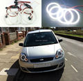For ford fiesta facelift 2005 2006 2007 2008 Excellent 4 pcs smd led angel eyes Ultrabright illumination Angel Eyes kit
