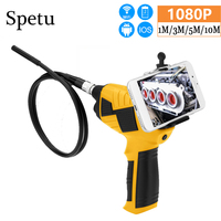 Spetu 1080P HD WIFI Car Endoscope 8mm Endoscope Camera Android Handheld 1/3/5/10M Inspection Camera Snake Hard Endoscopio
