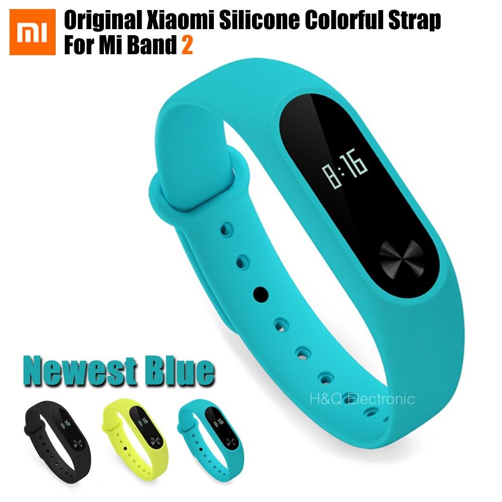 Original Colorful Xiaomi Mi Band 2 Strap Mi Band 2 Bracelet Accessories Replaceable  Band Silicone Wristband For Xiaomi Band 2 original xiaomi e27 yeelight ii mi light colorful