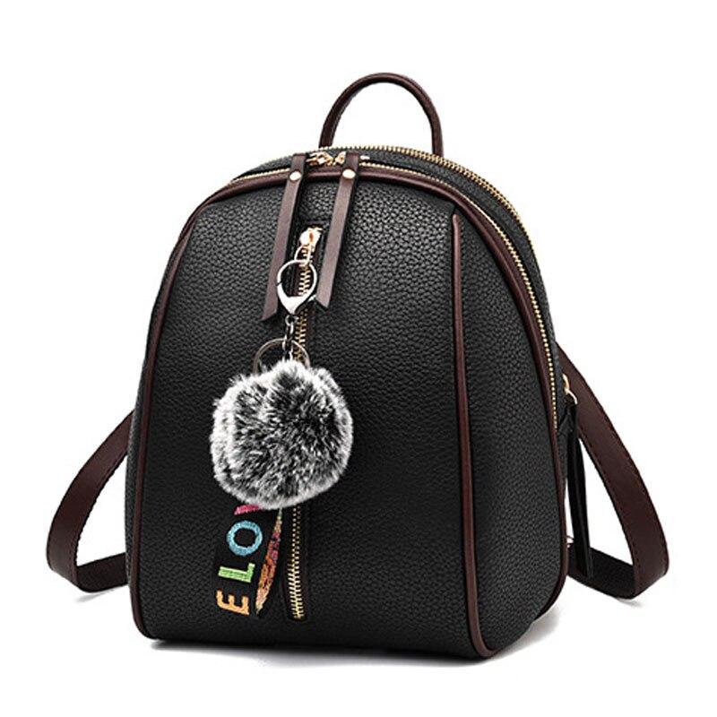 Pendentif gratuit petit sac à dos pour femmes Zipper ordinateur portable en cuir synthétique polyuréthane fille école sac à dos dames sac à bandoulière femme sac à main en gros