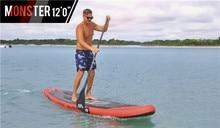 "Freeshipping 12'0 ""Levántese el Tablero de Paleta Inflable tabla de Surf inculding Remo, Bomba, Carrybag, Parche De Reparación"