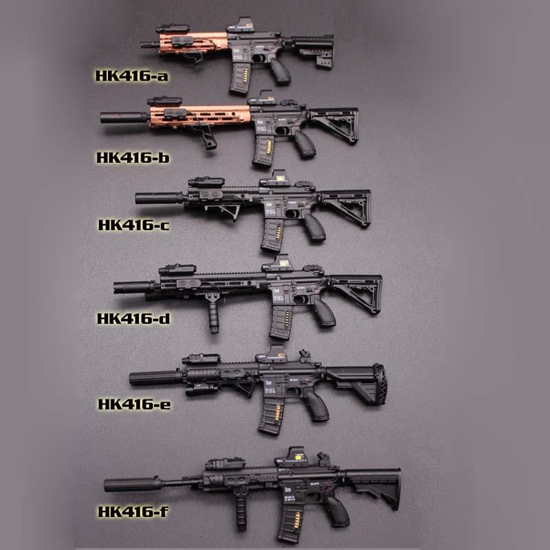 Rifle de brinquedo Escala 1//6 Preto HK-416 Rifle De Assalto