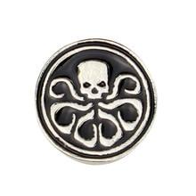 2019 new European and American Aegis Bureau agent Hydra metal brooch pin Avengers 4 badge unisex jewelry gift