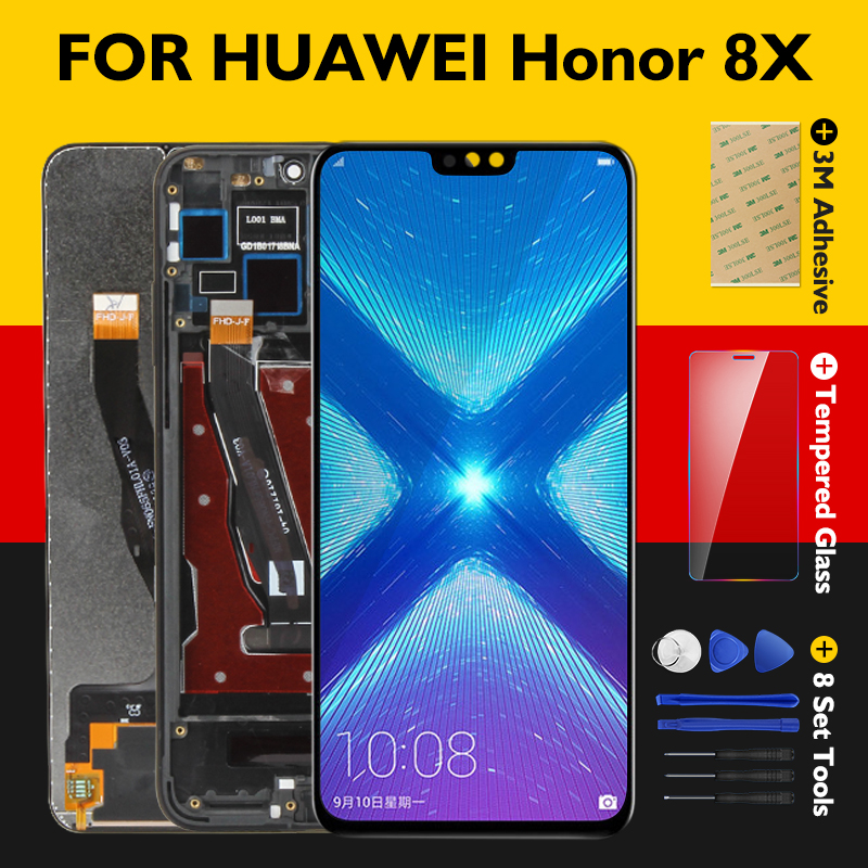 Original Screen Honor 8X LCD Display 10 Touch Panel Huawei Honor View 10 LTPS Digitizer Assembly