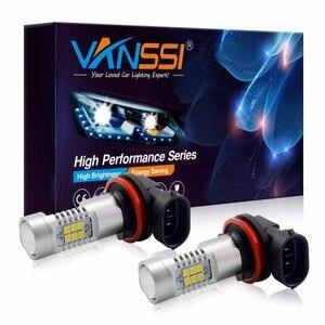 VANSSI 2PCS H8 H11 LED H10 9145 HB3 9005 HB4 9006 PSX24W 2504 5202 H16 LED Fog Light Bulbs Lamp 1200LM 6000K White DC12-24V(China)