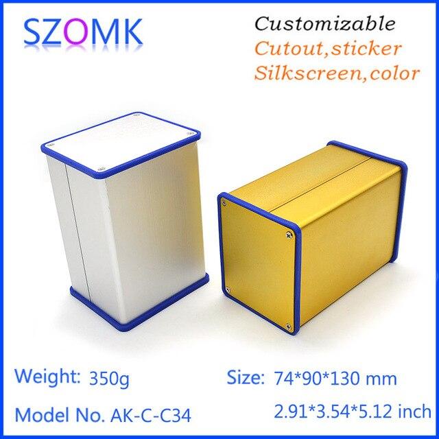 1 pc szomk silvery aluminum extrusion case with silicone seals 1 pc szomk silvery aluminum extrusion case with silicone seals anodizing distribution enclosure 74 sciox Choice Image