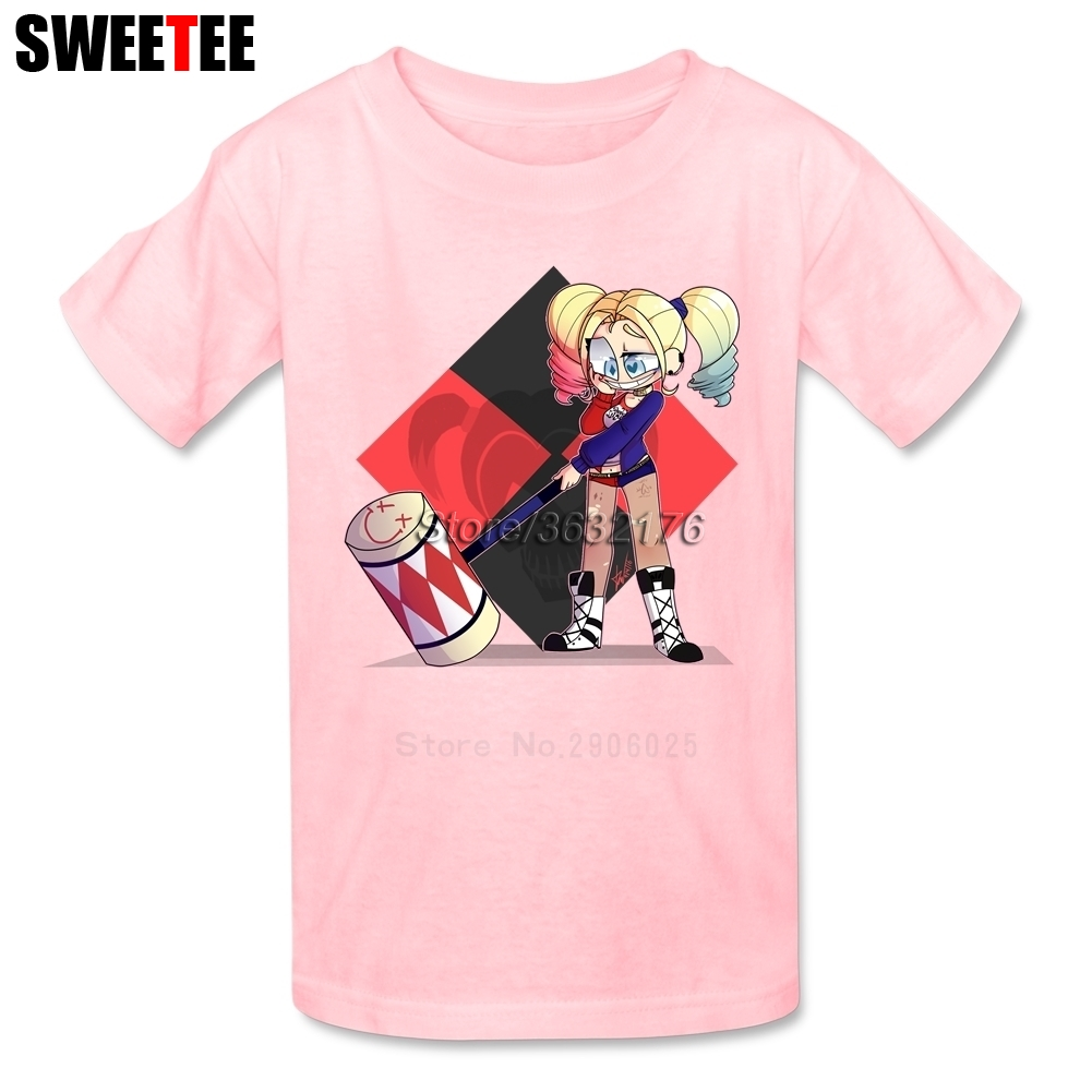 Suicide Squad Boy Girl T Shirt Baby Infant Cotton Crew Neck Kid Tshirt childrens Clothes 2018 Harley Quinn T-shirt For Toddler
