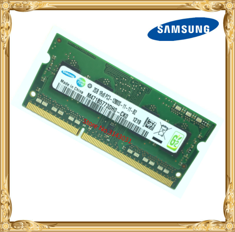 Samsung Laptop memory DDR3 2GB 1600MHz PC3-12800S notebook RAM 12800 2G