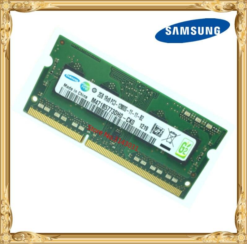 Samsung mémoire D'ordinateur Portable DDR3 2 GB 1600 MHz PC3-12800S portable RAM 12800 2G