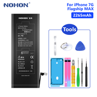 NOHON Lithium Battery For Real 2265mAh Rechargeable Phone Bateria Batteries iPhone 7 7G iPhone7 Free Tools Retail Package