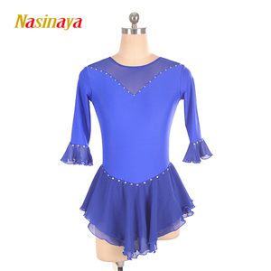 Image 1 - Nasinaya Figure Skating Dress Customized Competition Ice Skating Skirt for Girl Women Kids Patinaje Gymnastics Performance 226