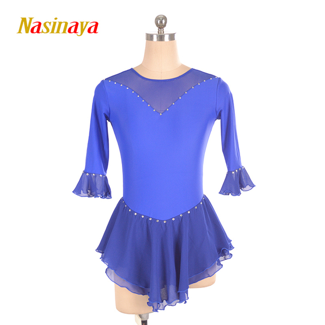 Nasinaya Figure Skating Dress Customized Competition Ice Skating Skirt for Girl Women Kids Patinaje Gymnastics Performance 226