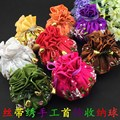 Hand Ribbon Embroidery 8 Multi Jewelry Ball Pouches Travel Storage Drawstring Silk Gift Packaging Bags  10pcs/lot mix color