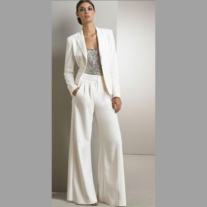Plus Size Mother Of The Bride Pant Suits Sequins Long Sleeve Mothers Groom Pants Suit With