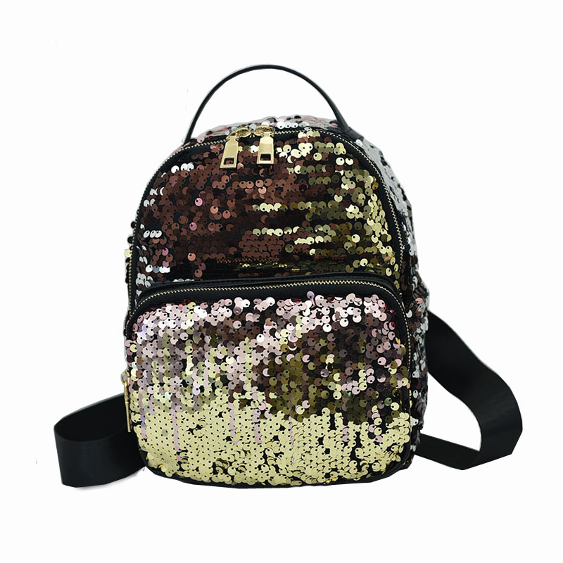 2017 Sequin Backpack PU Leather Backpack Women Backpacks School Bags For Teenagers Girls Ladies Bags Mochila Feminina