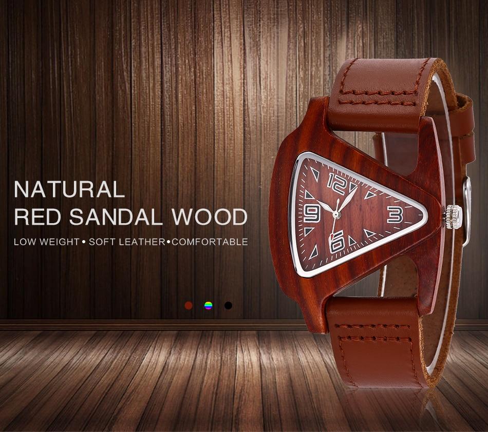 ALK leather strap female male wooden wristwatch 31