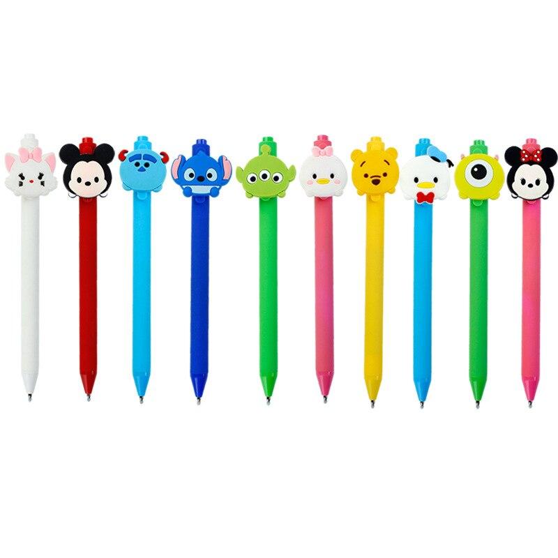 Ofis ve Okul Malzemeleri'ten Başlık Kalemleri'de 40 adet/grup yaratıcı karikatür Dikiş mouse Donald Buzlu varil Şeker renk kaliteli jel kalem öğrenciler hediye İmza kalem kırtasiye'da  Grup 1
