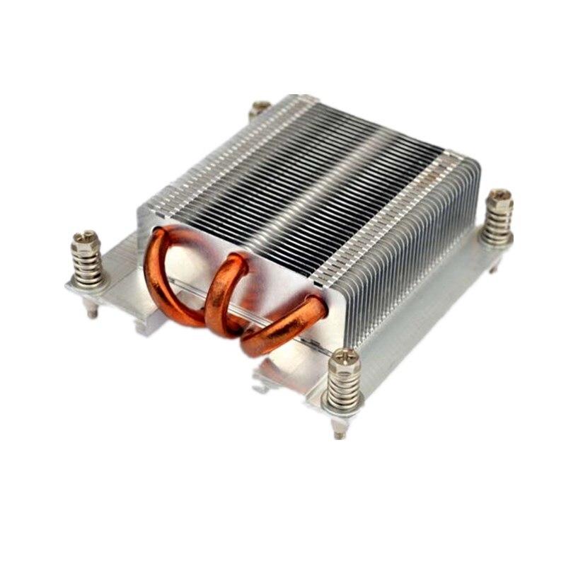 1U CPU Processor Heatsink 1366 pin x58 pure Aluminum CPU cooler 3 copper tube cooling 1U server passive radiator(China)