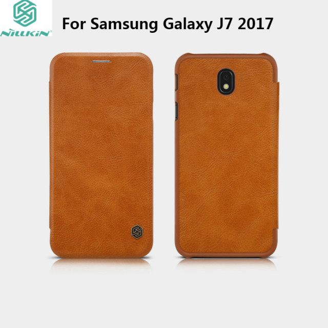 half off cf559 b98a9 US $9.89 |J7 2017 Leather Case Original NILLKIN Qin Series Vintage Wallet  Flip Leather Cover For Samsung Galaxy J7 2017 J7 Pro 5.5 inch -in Wallet ...