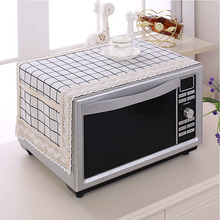 SRYSJS  Colorful Cotton and linen Microwave Dust Cover With Double Pocket