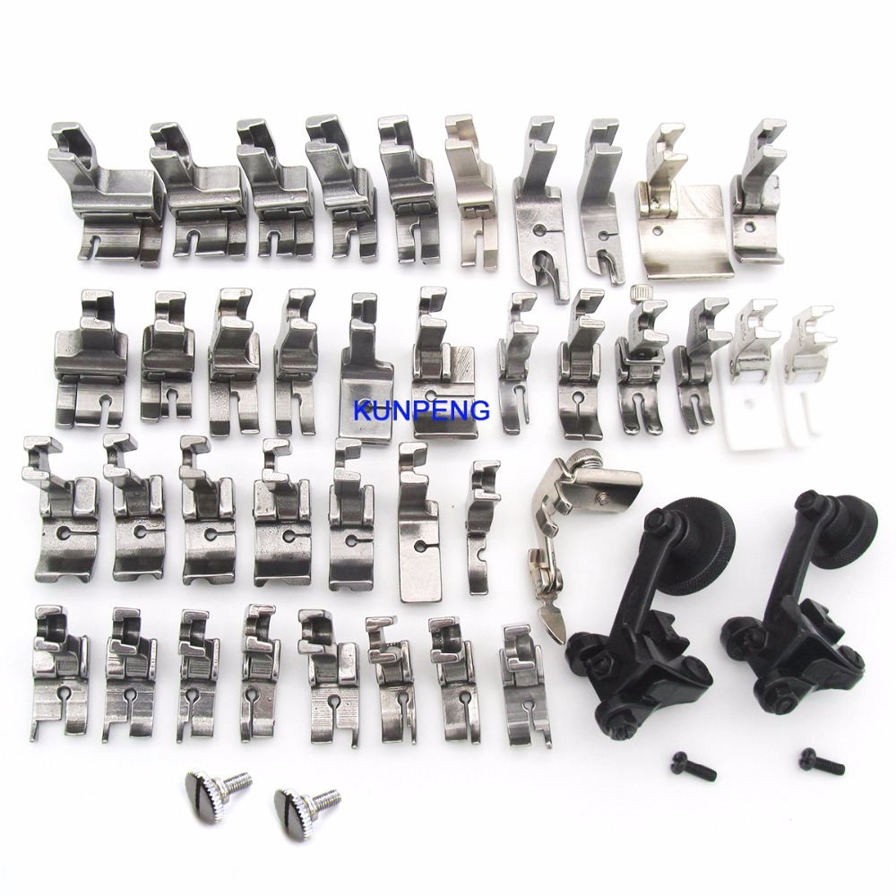40 PRESSER FOOT SET HIGH SHANK Single INDUSTRIAL SEWING MACHINE FIT FOR JUKI BROTHER SINGER KP