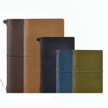Дешевые 100% натуральная кожа Тетрадь планировщик ручной путешествия Bullet Journal оливковое паспорт Sketchbook Повестка дневник Винтаж канцелярские