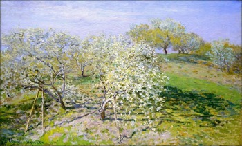 High quality Oil painting Canvas Reproductions Apple Trees in Bloom (1873) By Claude Monet hand painted