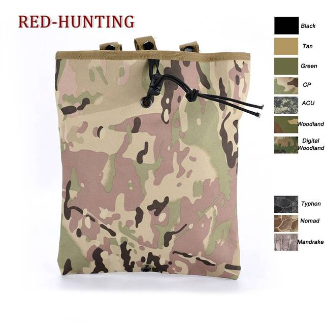 Us 6 44 30 Off 6 Color Tactical Mag Dump Pouch Airsoft Paintball Military Recovery Molle Magazine Pouch Hunting Slingshot Ammo Bags In Pouches From