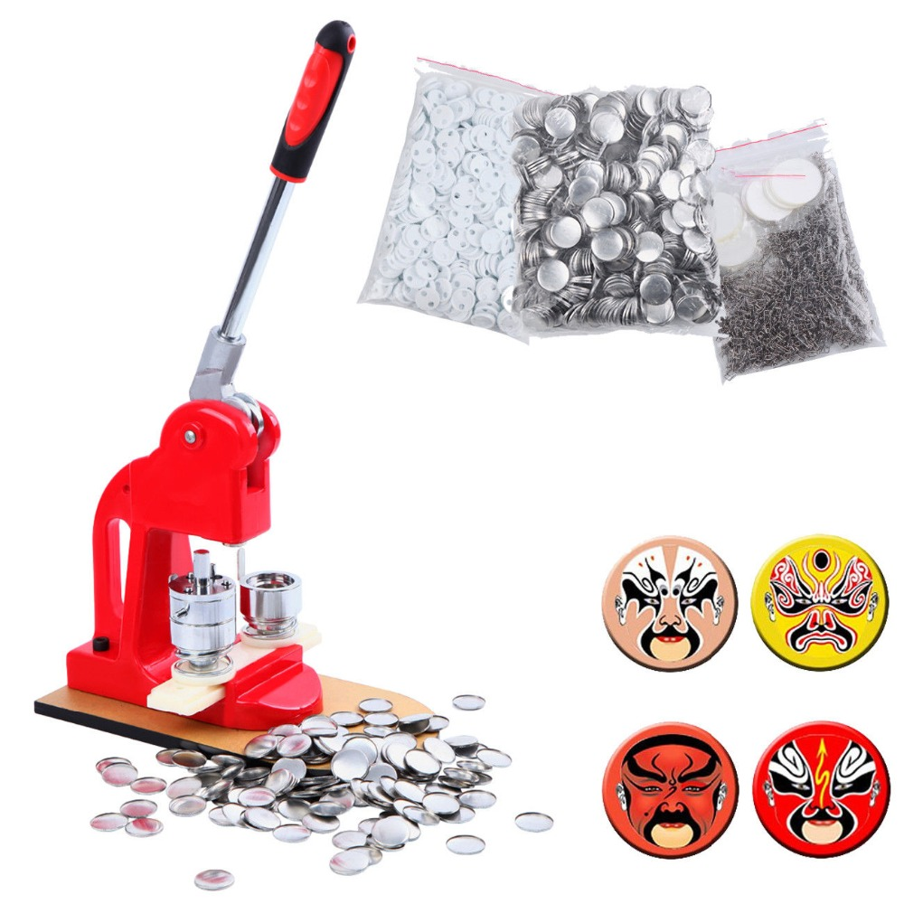 (Ship from Germany) Button Maker Badge Punch Press Machine 1000 Parts Circle Cutter 25/32/58mm